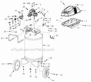 Campbell Hausfeld Wl611106 Parts List And Diagram