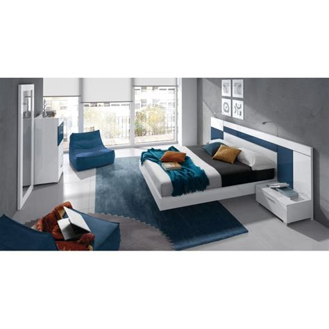 cap de cuisine pour adulte chambre à coucher design blanche et bleu 6 éléments cbc