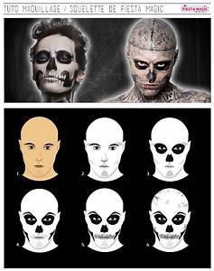Maquillage Squelette Facile : soir e th me halloween tuto maquillage squelette ~ Dode.kayakingforconservation.com Idées de Décoration
