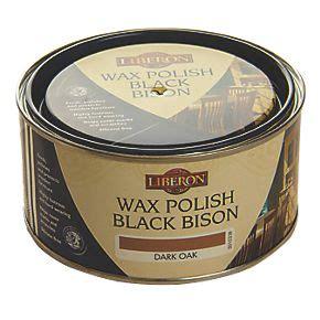 liberon black bison paste wax satin  gloss dark oak