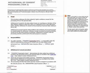 gdpr managing the right to withdraw consent it With eu gdpr documentation toolkit