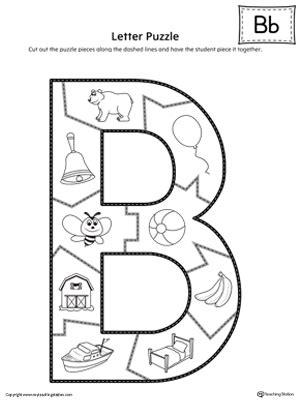 letter b worksheets letter b puzzle printable myteachingstation