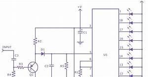 Schematic Diagram  Diagram Lm 3915 Sound Level Meter Circuit