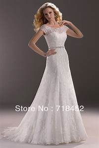 sheer top lace wedding dress cap sleeve a line floor With mesh top wedding dress