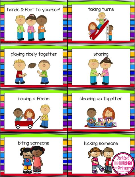 tickled pink  primary preschool classroom rules