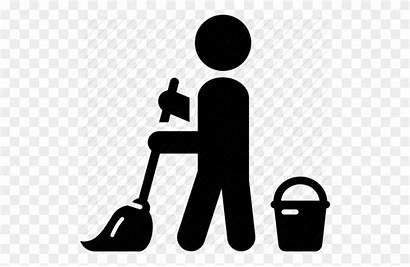 Cleaning Janitor Clipart Icon Cleaner Clip Floor