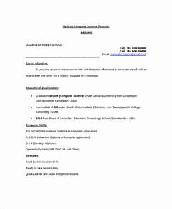 Computer science resume template for it workers for Computer resume template