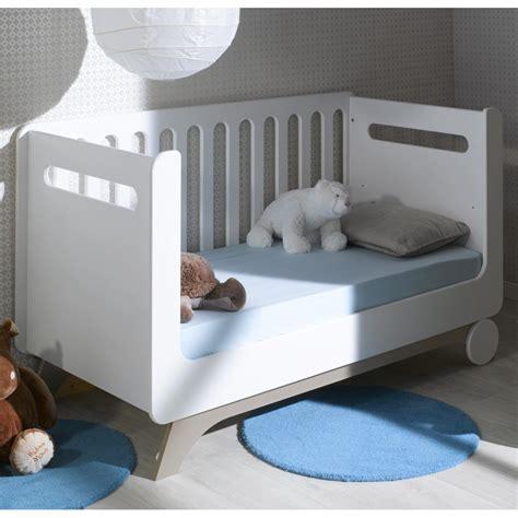 chambre bébé promo lit bébé évolutif 70x140 cm pepper blanc