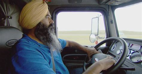 indian trucking american years truck driving than sikh drivers truckers trucks entered sikhs industry indians evening class cbsnews cbs year