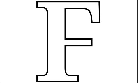 Printable Letter F Coloring Page