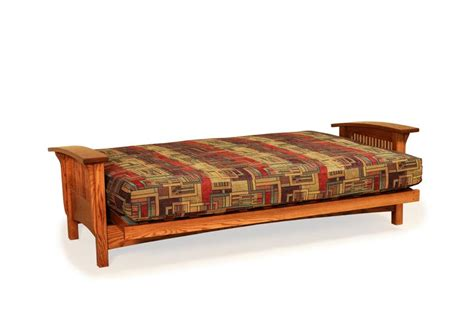 mission style futons amish mission futon bed