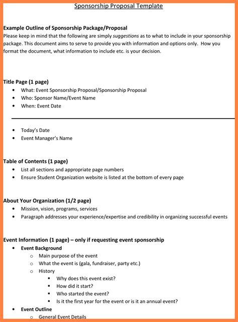 event sponsorship proposal sample bussines proposal