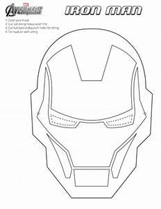 diy the avengers masker marvel super helden With iron man face mask template