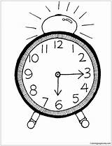 Clock Half Past Alarm Pages Coloring Six Printable Coloringpagesonly sketch template