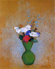 Flowers in a Green Vase Odilon Redon