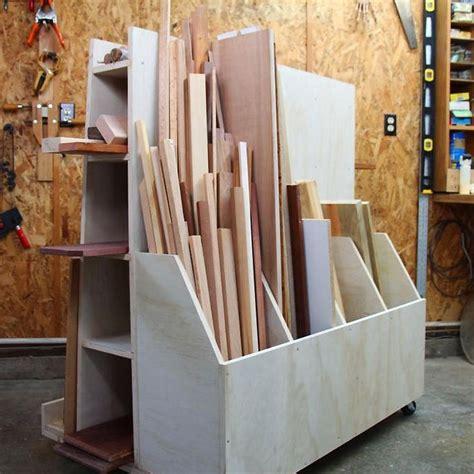 images  workshop lumber storage  pinterest