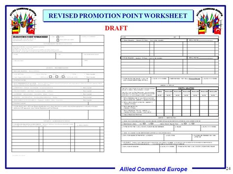 us army promotion point worksheet free worksheets