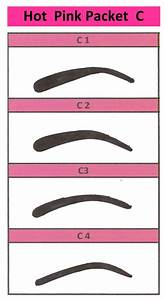 6 best images of printable eyebrow guides free printable With eyebrow templates printable