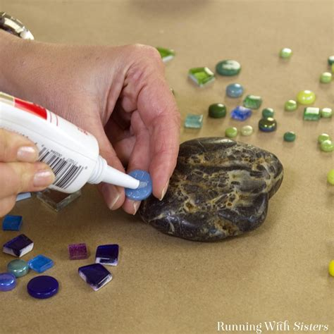 make rock how to make mosaic garden rocks running with sisters