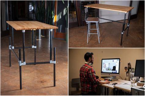build a standing desk building an adjustable height standing desk video