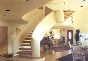 dome home interior design eye of the monolithic dome home many the grand staircase to the third level