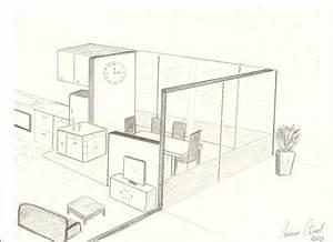 croquis salon salle a manger en perspective decor39in With croquis d une maison 12 dessin de jardin en perspective le jardin de bastian