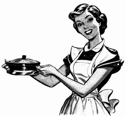 Clipart Cooking Retro Kitchen Woman Mom Dinner