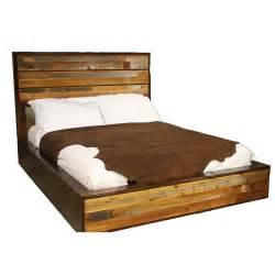 urban rustic barnwood platform bed queen