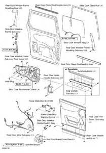 Toyota Sienna Sliding Door Parts Diagram  Toyota  Auto