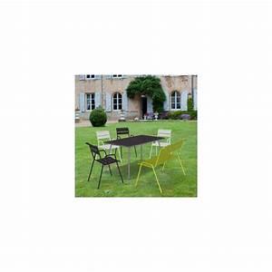 Fermob Salon De Jardin : salon de jardin fermob monceau table l146 l80cm 4 chaises 1 banc 1 carton 95 5 x 23 4 x ~ Teatrodelosmanantiales.com Idées de Décoration
