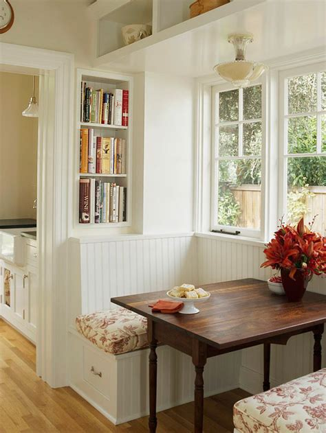 Placement near a dining area that allows it to be used as a banquette? 25 Kitchen Window Seat Ideas