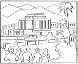 Coloring Temple Lds Building Hawaii Kirtland Temples 1923 Mormon August History Template sketch template