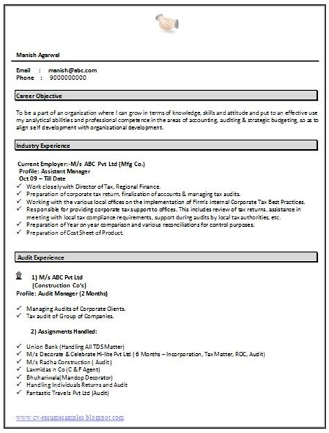 Experience Resume Format In Ms Word by Resume Templates Resume Templates Free And