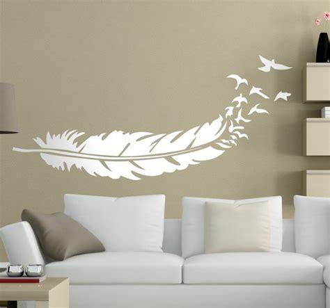chambre de service sticker plume oiseaux tenstickers