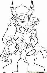 Coloring Thor Pages Super Hero Squad Cartoon Coloringpages101 Pdf sketch template