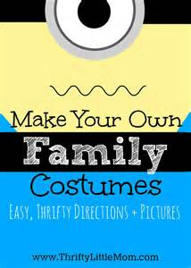 make your own family costumes thrifty