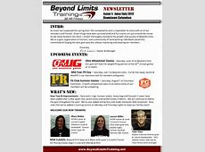 Beyond Limits Newsletter Issue 1 JuneJuly 2012 Beyond