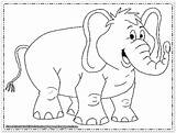 Elephant Coloring Printable Elephants Drawing Animals Face Elmer Getdrawings Clip Coloringhome Popular sketch template