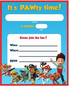 Free printable paw patrol birthday invitation ideas free invitation templates drevio for Printable paw patrol invitations