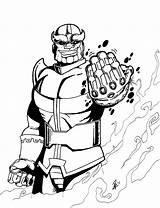 Thanos Coloring Infinity Gauntlet Iron Edward Scissorhands Colorir Desenho Personagem Galactus Imprimer Dessin Coloriage War Kleurplaat Marvel Comic Drawings Imprimir sketch template