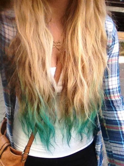 Turquoise Dip Dyed Hair Hair Dos Pinterest Turquoise