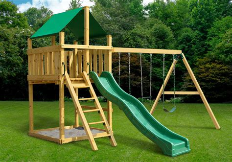 swing set plans discovery fort with swing set diy kit swingsetmall