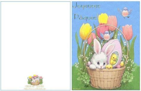 carte de paques carte 224 imprimer panier oeufs lapin p 226 ques cartes 224