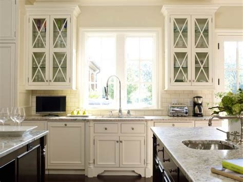 glass front cabinets glass front kitchen cabinets transitional suzanne kasler ideas