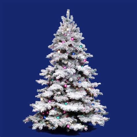 vickerman flocked alaskan 3 white artificial christmas