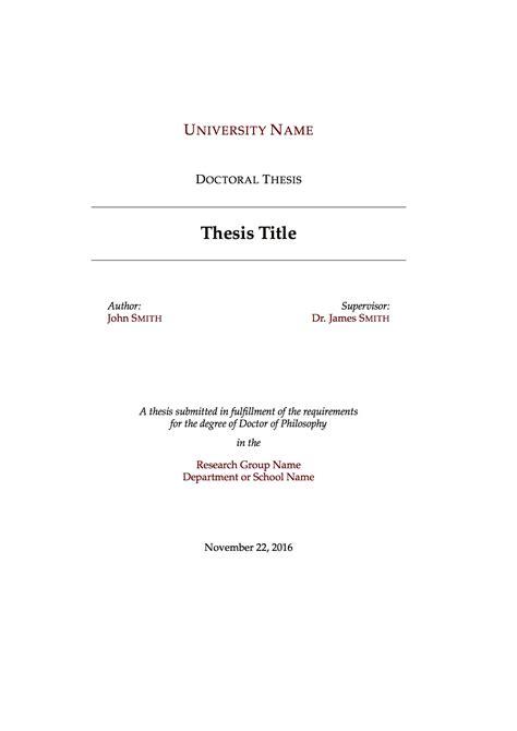 latex templates mastersdoctoral thesis