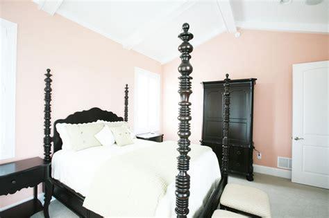 mellow coral walls   master bedroom interiors  color