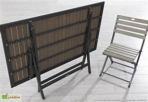 Salon De Jardin Pliant : table de jardin pliante en aluminium mc immo ~ Dailycaller-alerts.com Idées de Décoration