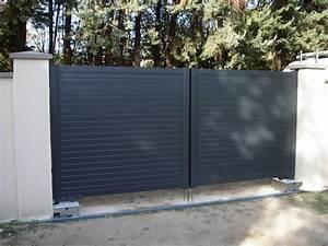 Fixation Portail Battant : portail alu battant portail coulissant avec portillon ~ Premium-room.com Idées de Décoration