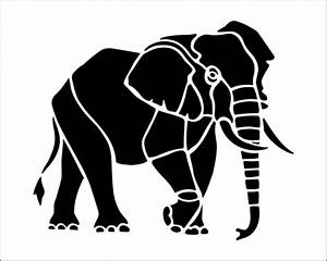 Elephant Stencil - Cliparts.co | Stuff I want to make ...